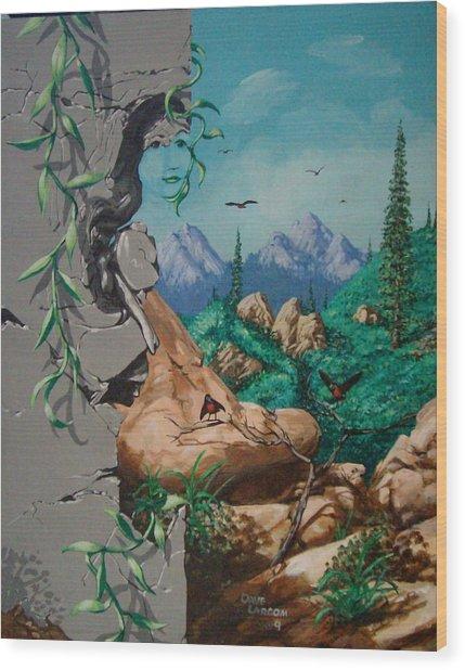 Safitri Wood Print by David  Larcom