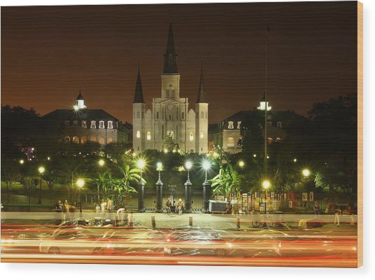Saint Louis Cathedral In New Orleans Wood Print