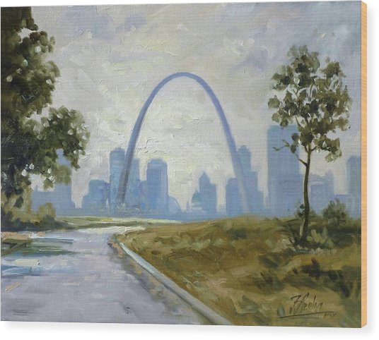 Saint Louis Panorama Wood Print