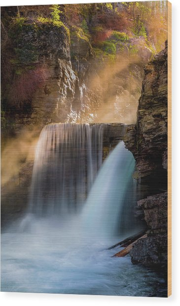 Saint Mary Falls // Glacier National Park  Wood Print