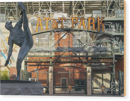 San Francisco Giants Att Park Juan Marachal O'doul Gate Entrance Dsc5790 Wood Print