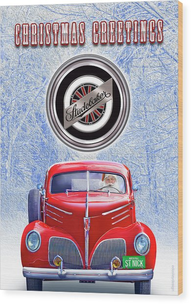 Santas Coupe Express Wood Print