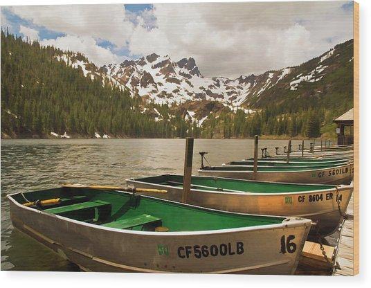 Sardine Lake Wood Print