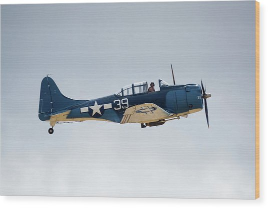 Sbd Dauntless Wood Print by Brian Knott Photography
