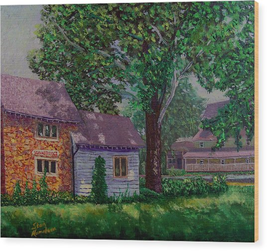 Schwabs Fudge Wood Print by Stan Hamilton
