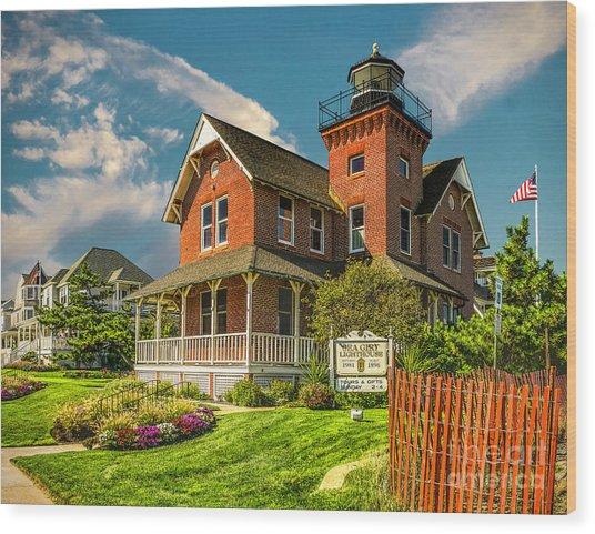 Sea Girt Lighthouse Wood Print