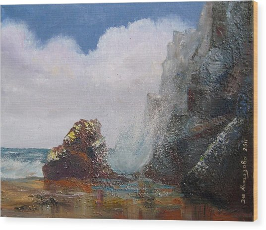 Seascape Wood Print by Eleonora Mingazova