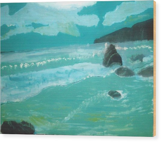Seascape Wood Print by Hannah Walton