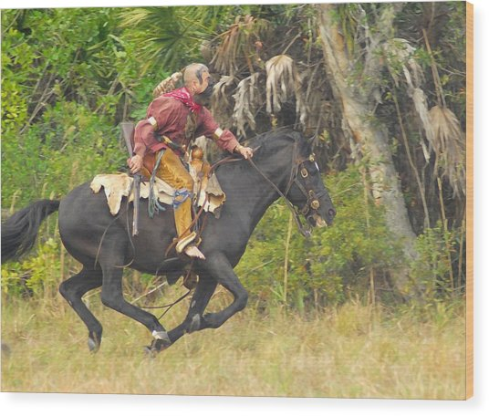 Seminole Indian Warrior Wood Print