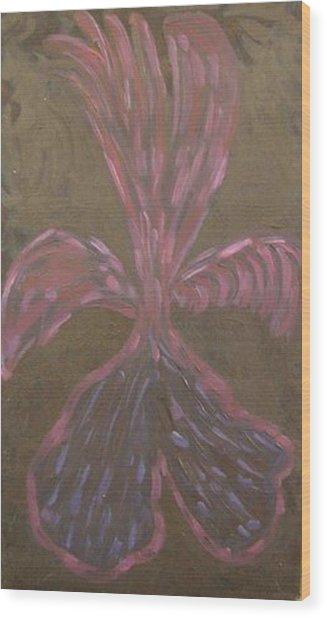 Seraph On Black Wood Print