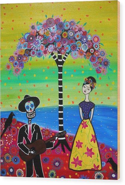 Serenading Frida Wood Print