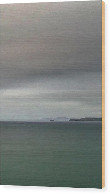 Wood Print featuring the digital art Shades Of Grey by Julian Perry
