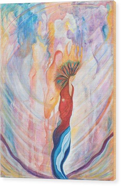 Shamans Dream Wood Print by Leti C Stiles