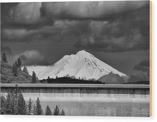 Shasta Dam Wood Print