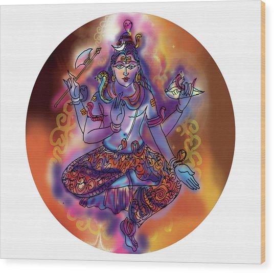 Shiva Dhyan Wood Print