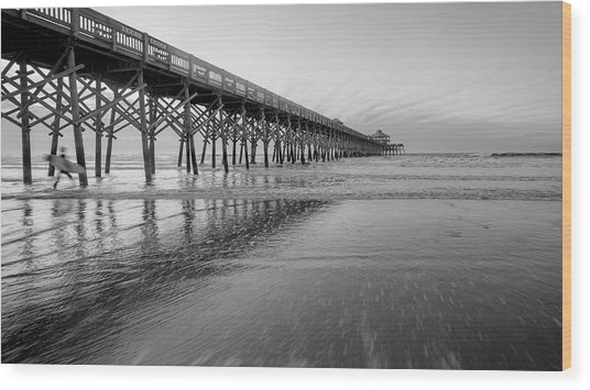 Shoot The Pier Wood Print by Michael Donahue