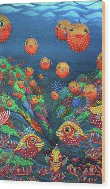 Sillyfish 2 Wood Print by Barbara Stirrup