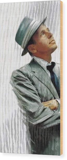 Sinatra Wood Print by James Robinson