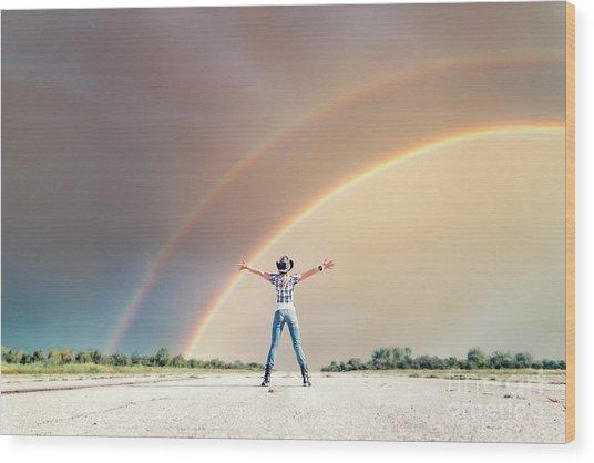 Sing Me A Rainbow Wood Print
