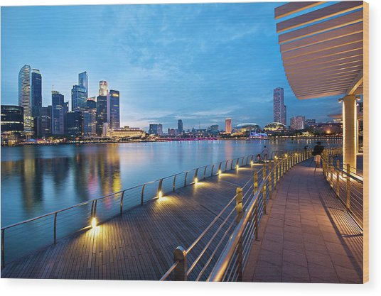 Singapore - Marina Bay Wood Print