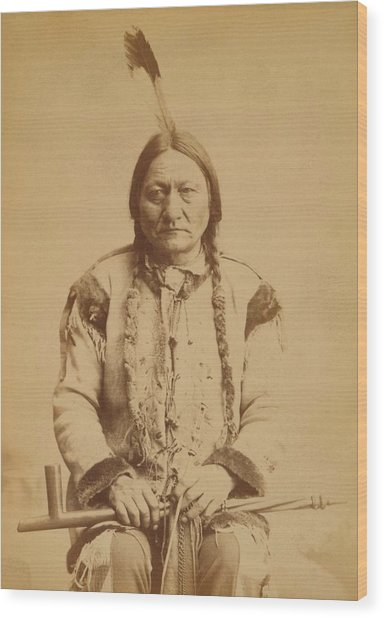 Sitting Bull 1831-1890, Lakota Sioux Wood Print by Everett