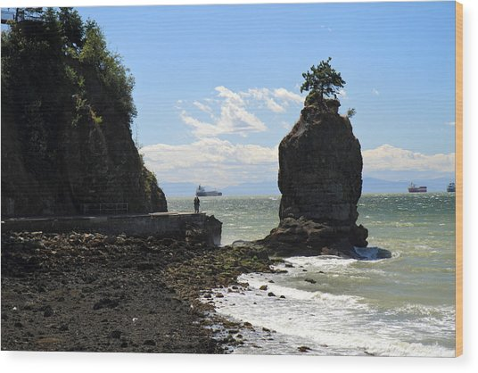 Siwash Rock Stanley Park Vancouver Wood Print by Pierre Leclerc Photography