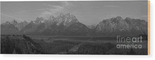 Snake River Sunrise Panorama Wood Print