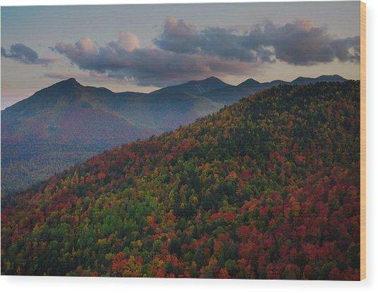 Snow Mt View Wood Print