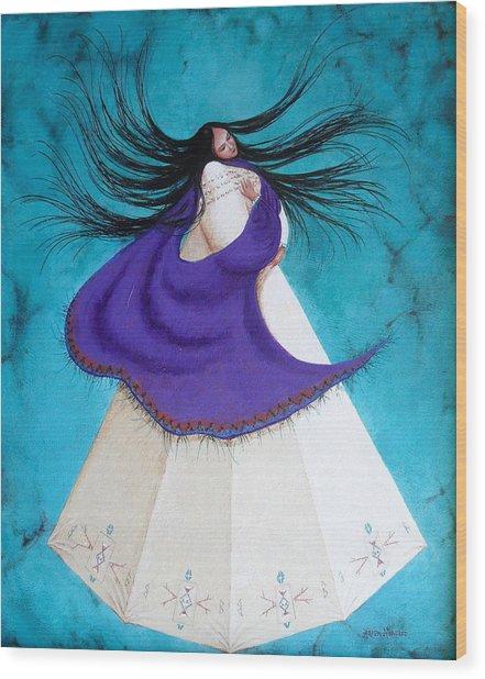 Song Of My Heart Wood Print by Karen Roncari