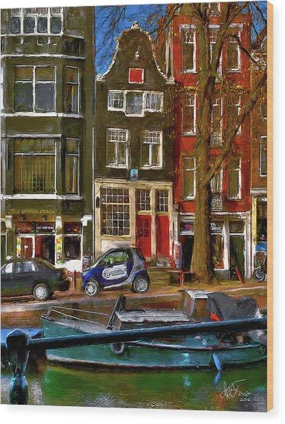 Spiegelgracht 6. Amsterdam Wood Print