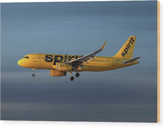 Spirit Airlines Airbus A320-232 Wood Print