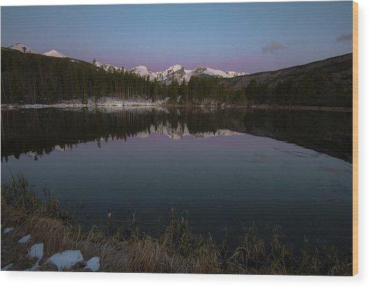 Sprague Lake Wood Print
