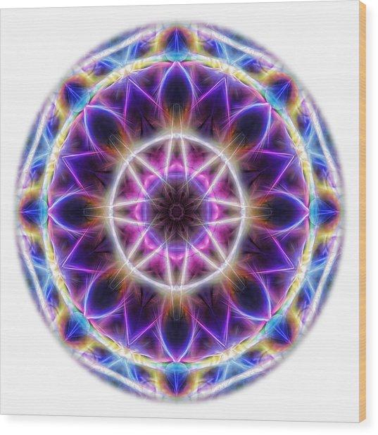 Spring Energy Mandala 2 Wood Print