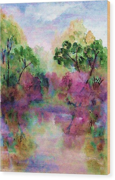 Spring Time In Alabama Wood Print by Anne Hamilton