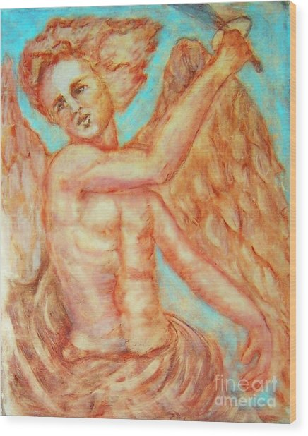 St. Michael The Archangel Wood Print by Suzanne Reynolds