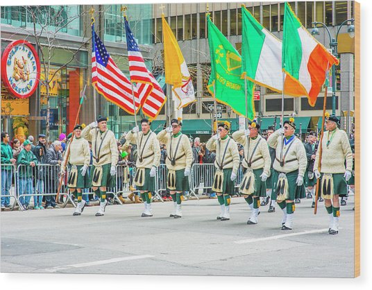 St. Patrick Day Parade In New York Wood Print