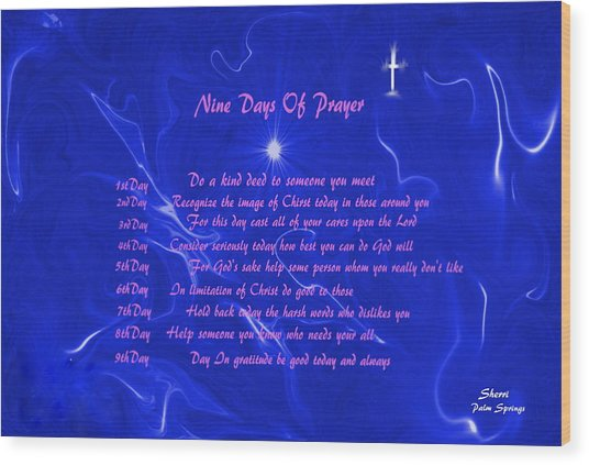 Star Light Star Bright Wood Print by Sherri's - Of Palm Springs