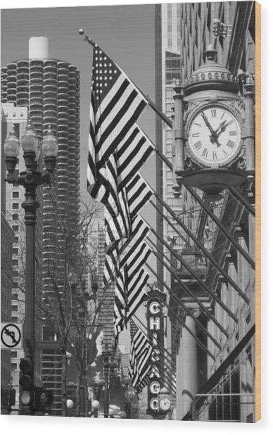 State Street Scene - 1 Wood Print