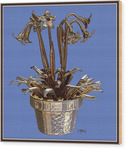 Still Life With Flowers 1 Wood Print