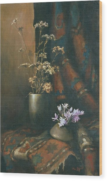 Still-life With Snow Drops Wood Print