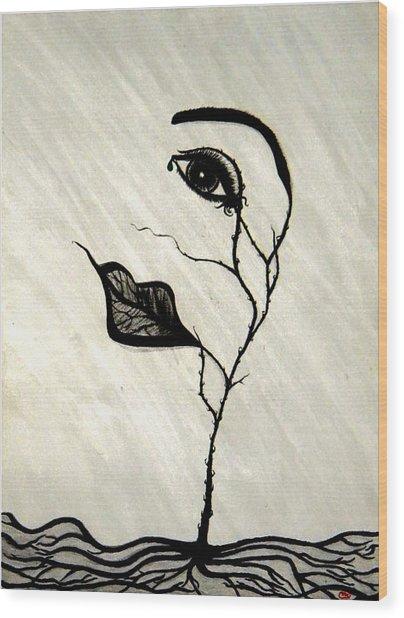 Still Standing Wood Print by Christine  Bennett