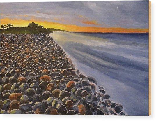 Stony Beach Wood Print by Mats Eriksson