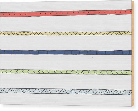 Striping Wood Print