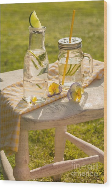 Summer Drinks Wood Print