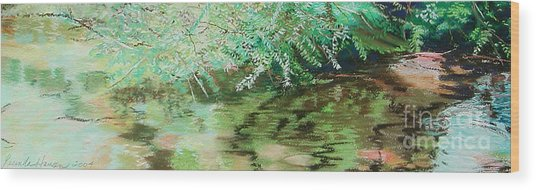 Summertime Wood Print by Lucinda  Hansen