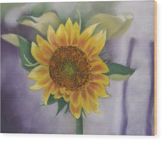 Sunflowers For Nancy Wood Print