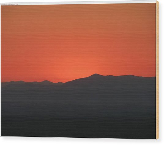 Sunglow Wood Print by John Geck
