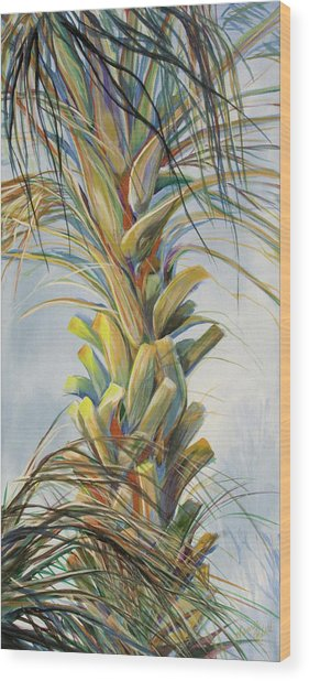Sunlit Palm Wood Print by Michele Hollister - for Nancy Asbell