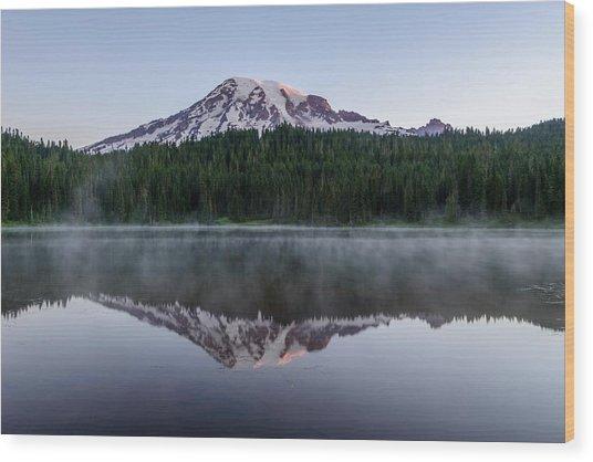 The Reflection Lake Wood Print