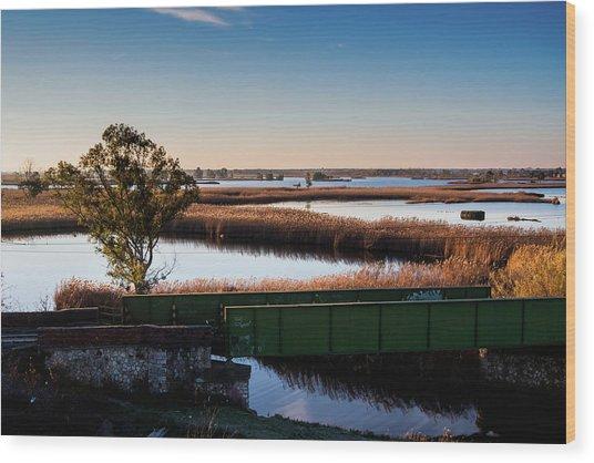 Sunrise In The Ditch Burlamacca Wood Print